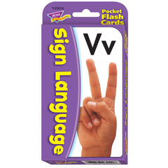 (3 EA) POCKET FLASH CARDS SIGN LANGUAGE