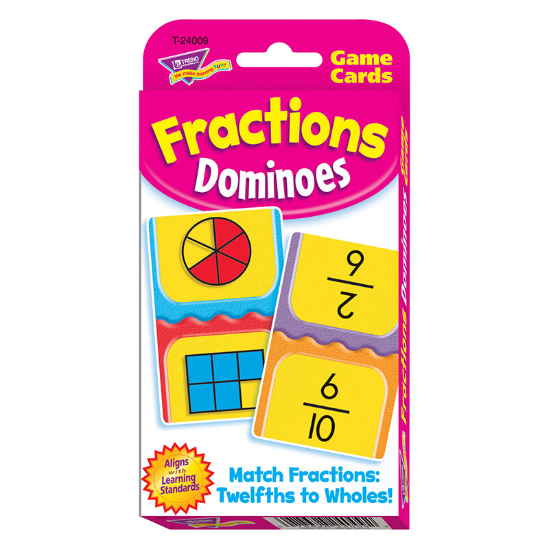 CHALLENGE CARDS FRACTIONS DOMINOES