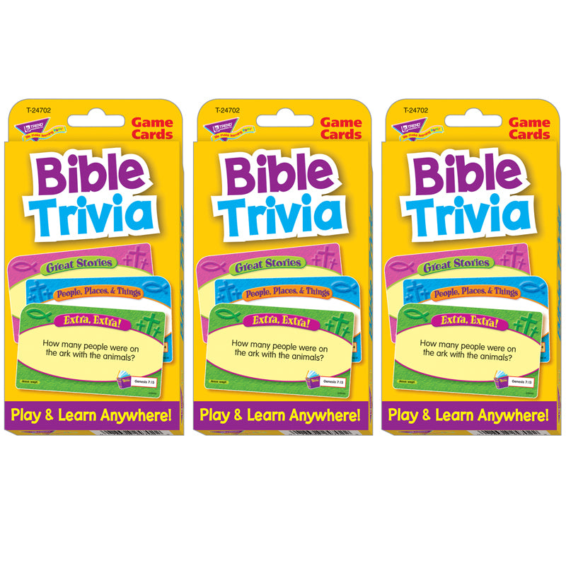 (3 EA) BIBLE TRIVIA CHALLENGE CARDS