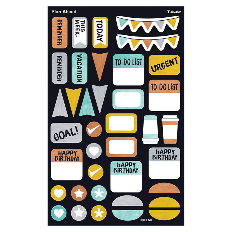 PLAN AHEAD SUPERSHAPES STICKERS LG
