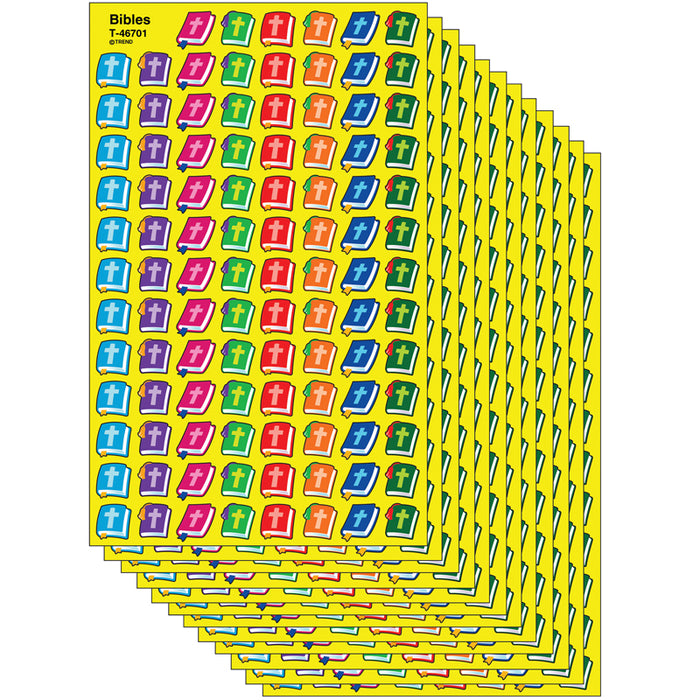 (12 PK) SUPERSHAPES STICKERS BIBLES