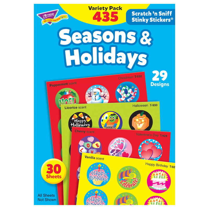 (2 PK) STINKY STICKERS SEASONS &