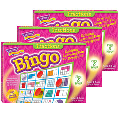 (3 EA) BINGO FRACTIONS AGES 10 & UP