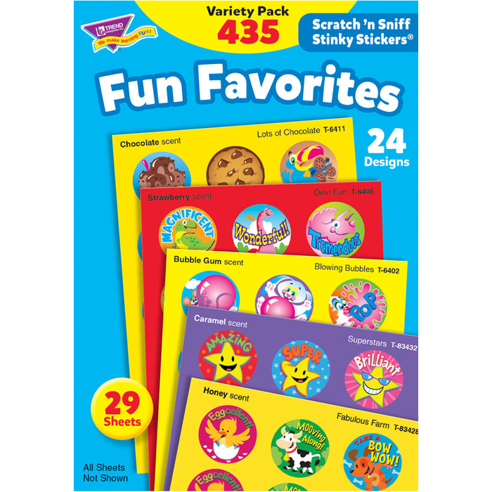 (2 PK) STINKY STCKERS FUN FAVORITES
