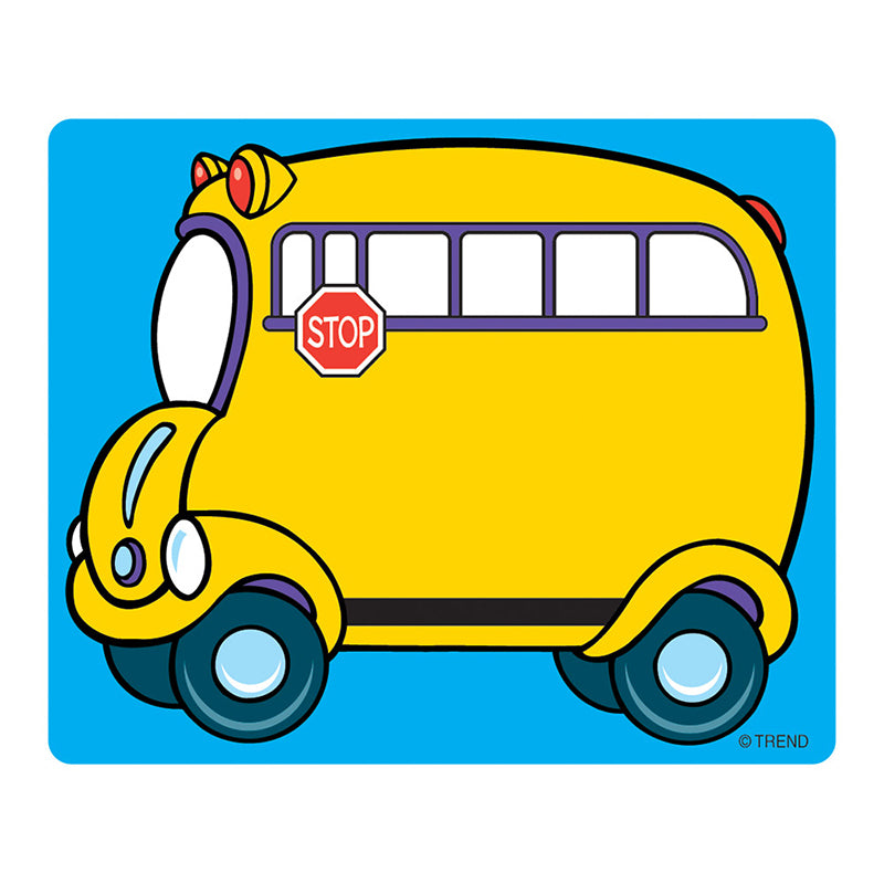 (6 PK) NAME TAGS SCHOOL BUS