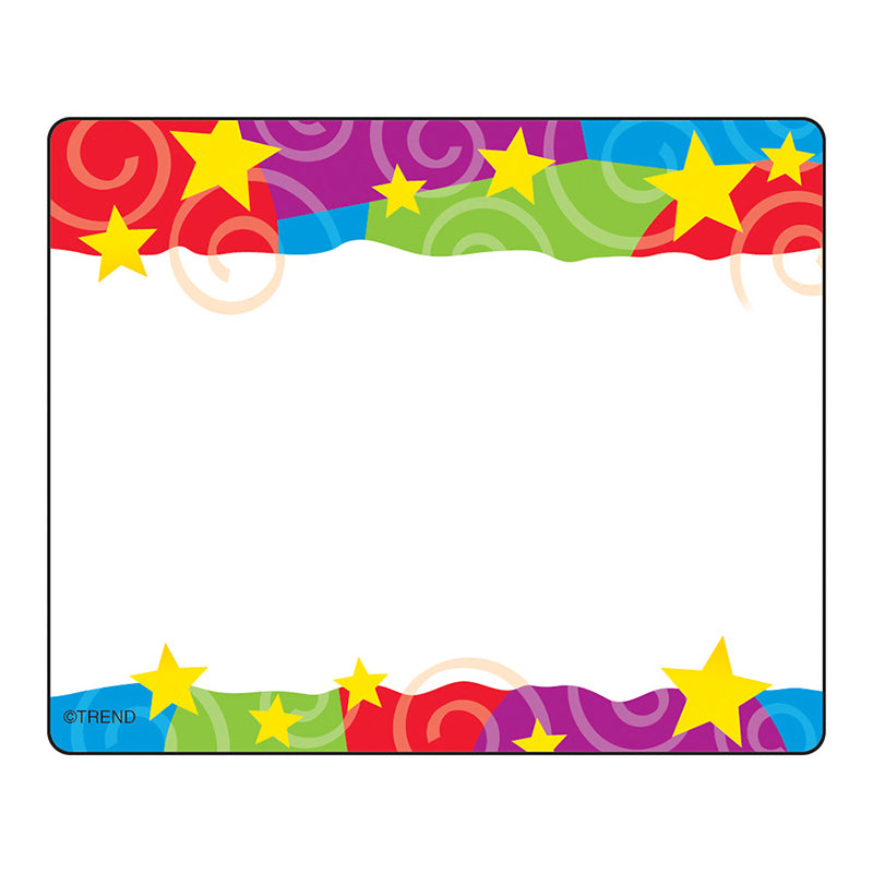 (6 PK) STARS N SWIRLS NAME TAGS