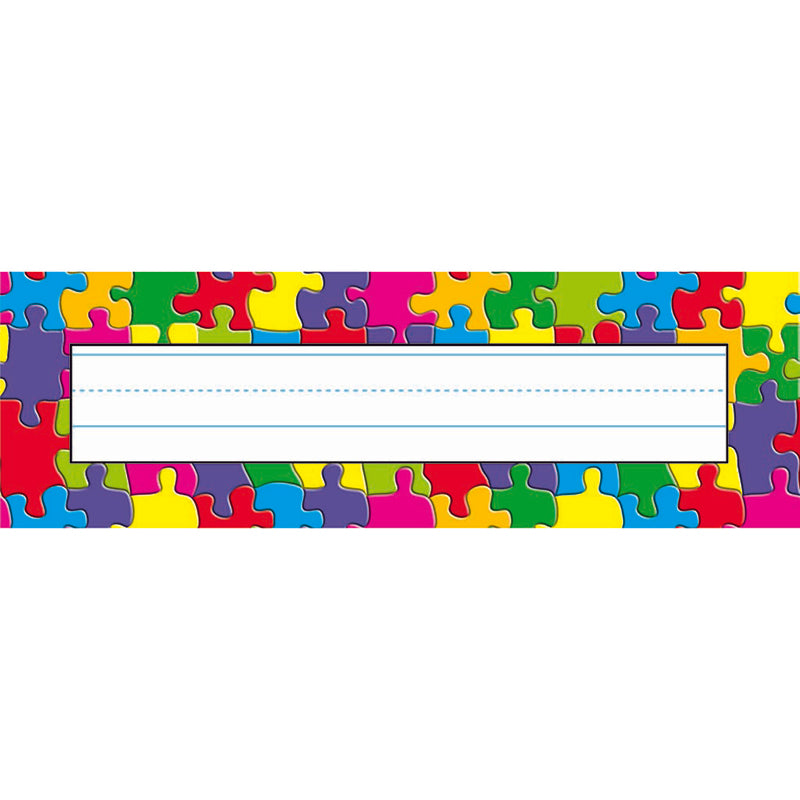 (12 PK) JIGSAW DESK TOPPERS NAME