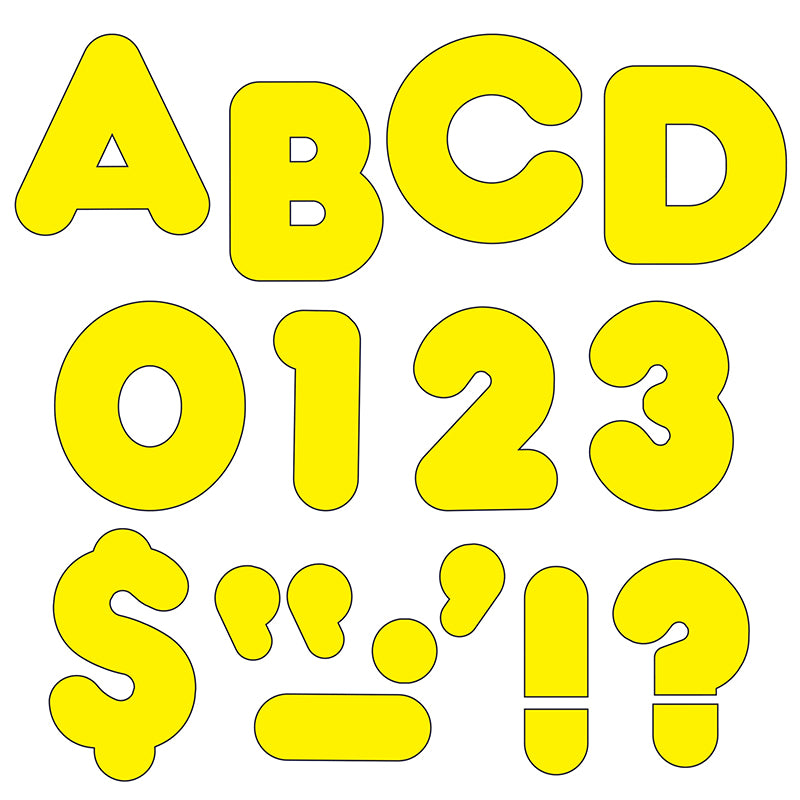 (6 PK) READY LETTERS 3IN YELLOW