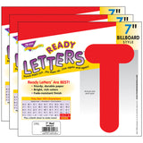 (3 PK) READY LETTERS 7IN RED