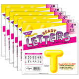 (6 PK) READY LETTERS 4IN 3-D YELLOW