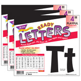 (3 PK) READY LETTER 4IN PLAYFUL BLK