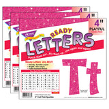(3 PK) 4IN READY LETTERS HOT PINK