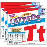 (3 PK) READY LETTERS 4IN RED