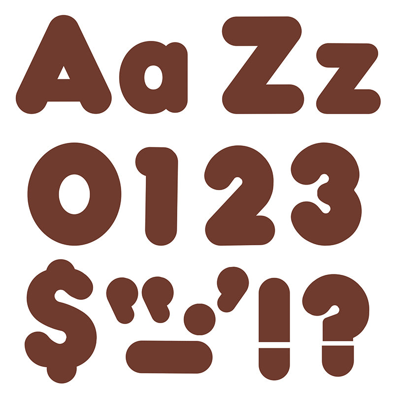 (6 PK) READY LETTERS 4IN CHOCOLATE