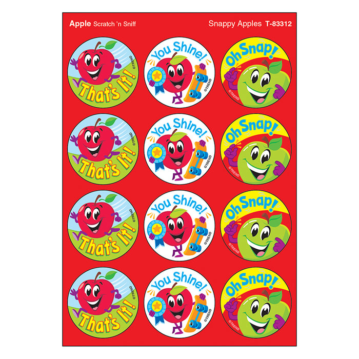 SNAPPY APPLES/APPLE STINKY STICKERS