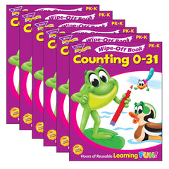 (6 EA) COUNTING 0-31 28PG WIPE-OFF