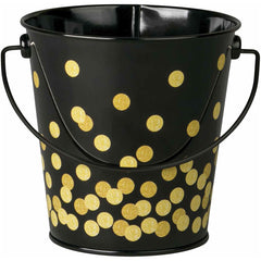 BLACK CONFETTI BUCKET