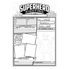 SUPERHERO SIGHTING 36 SHEETS
