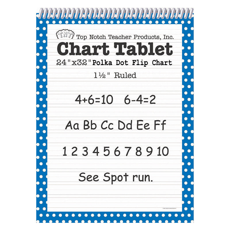 POLKA DOT CHART TABLET BLUE 1.5