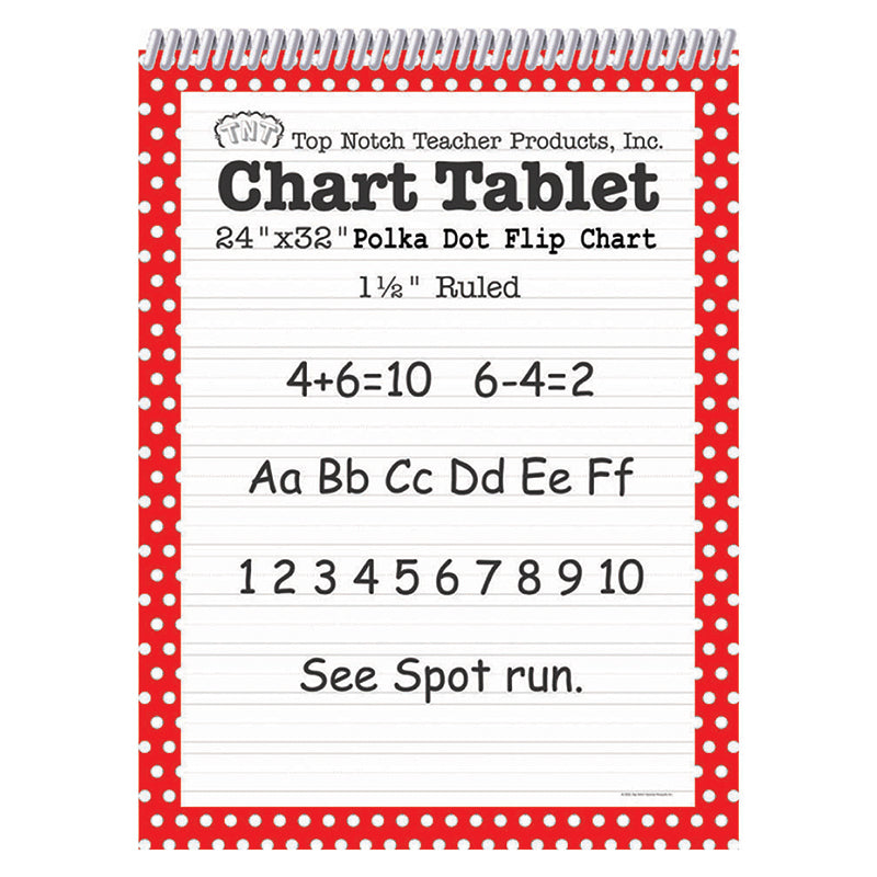 POLKA DOT CHART TABLET RED 1.5