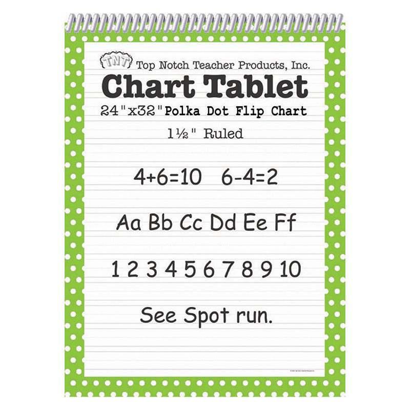 POLKA DOT CHART TABLET GREEN 1.5