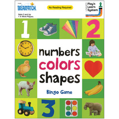 NUMBERS COLORS SHAPES BINGO GAME