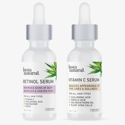 Day & Night Skin Duo - Retinol and Vitamin C Serum - InstaNatural