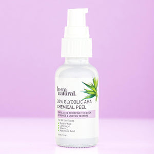 30% Glycolic AHA Chemical Peel - InstaNatural