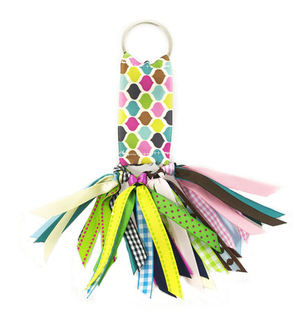 Geo Multi Color Soodle Key Chain