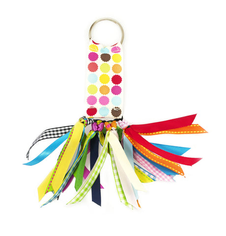 Party Multi Dot Soodle Key Chain