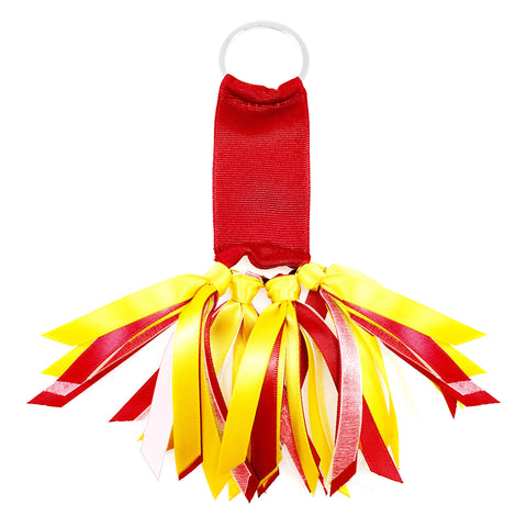 Red and Yellow Team Colors Ribbon Key Chain Soodle