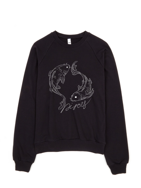 Pisces Fleece Black collection  sweater