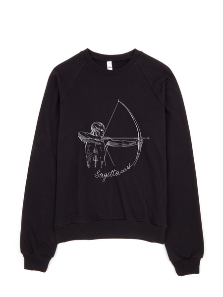Sagittarius Fleece Black collection sweater