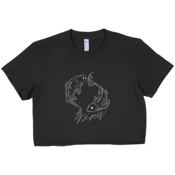 Pisces Short Sleeve Cropped T-Shirt ( Crop-Top )
