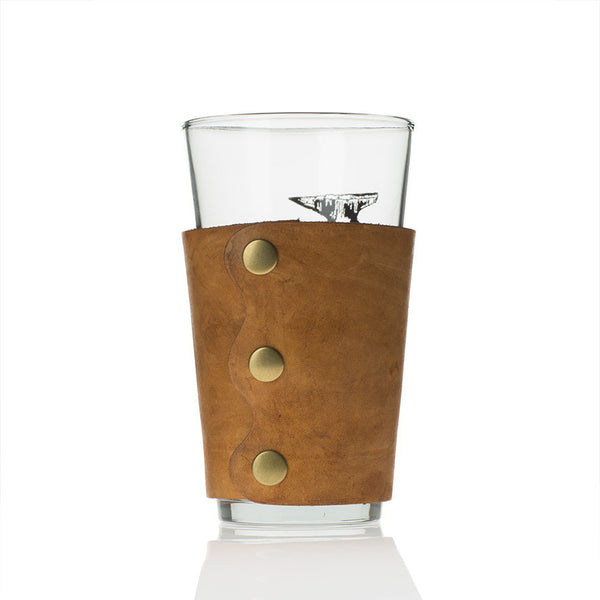 Leather Drink Jackets with Pint Glass