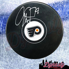 Carter Hart Autographed Flyers Puck
