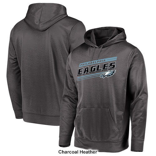 Philadelphia Eagles NFL Football Hyper Hit Dri-Fit Gray Pullover Hooded Sweatshirt
