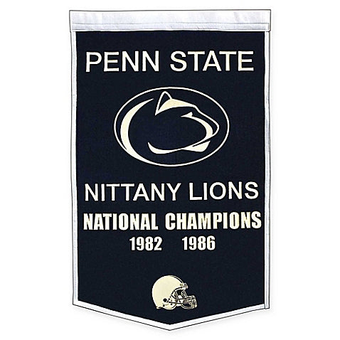 Penn State University Nittany Lions NCAA Dynasty Banner