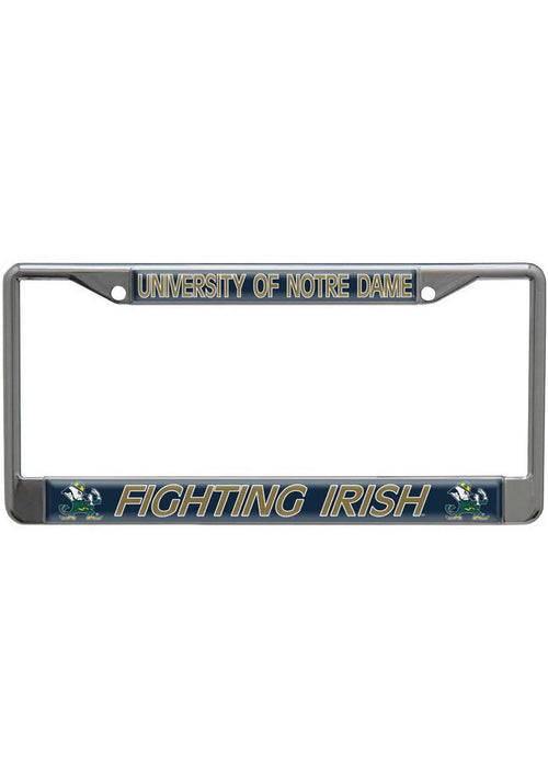 Notre Dame Fighting Irish NCAA College Domed Chrome License Plate Frame
