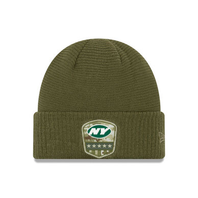 New York Jets Salute To Service Nike Winter Knit Hat - Dynasty Sports & Framing
