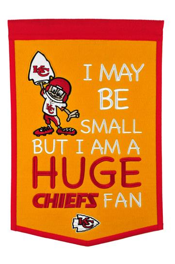Kansas City Chiefs Lil Fan Traditions Banner - Dynasty Sports & Framing