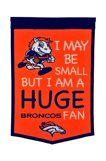 Denver Broncos Lil Fan Traditions Banner - Dynasty Sports & Framing