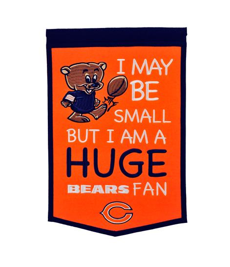Chicago Bears Lil Fan Traditions Banner - Dynasty Sports & Framing