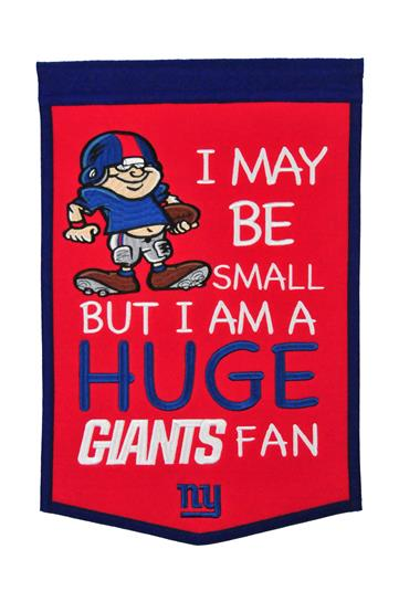 New York Giants Lil Fan Traditions Banner - Dynasty Sports & Framing