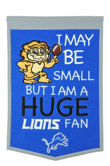 Detroit Lions Lil Fan Traditions Banner - Dynasty Sports & Framing