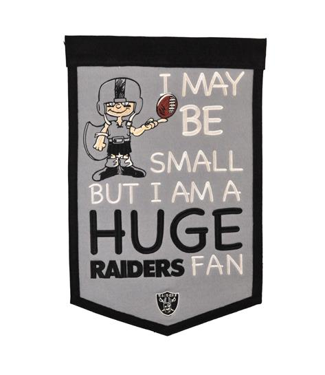 Oakland Raiders Lil Fan Traditions Banner - Dynasty Sports & Framing