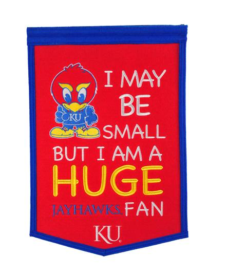 Kansas Jayhawks Lil Fan Traditions Banner - Dynasty Sports & Framing