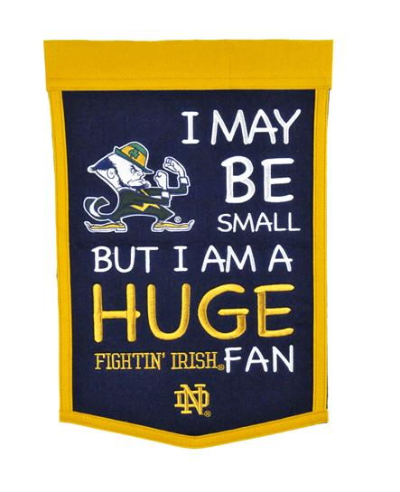 Notre Dame Fighting Irish Lil Fan Traditions Banner