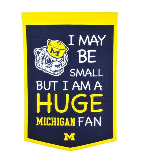 Michigan Wolverines Lil Fan Traditions Banner - Dynasty Sports & Framing