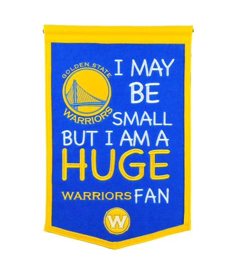 Golden State Warriors Lil Fan Traditions Banner - Dynasty Sports & Framing